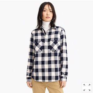 J Crew Buffalo Check Shirt-Jacket Size L